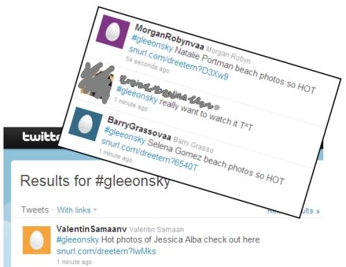 Gleeonsky hashtag