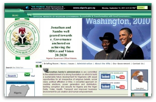Nigerian government website