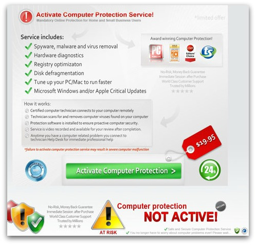 Computer protection not active