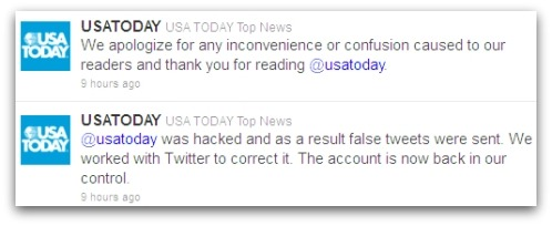 USA Today apologised for the hack