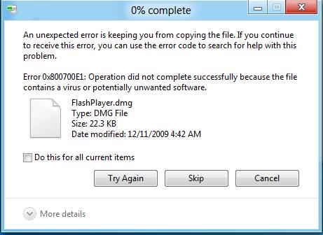 Windows 8 anti-virus detection