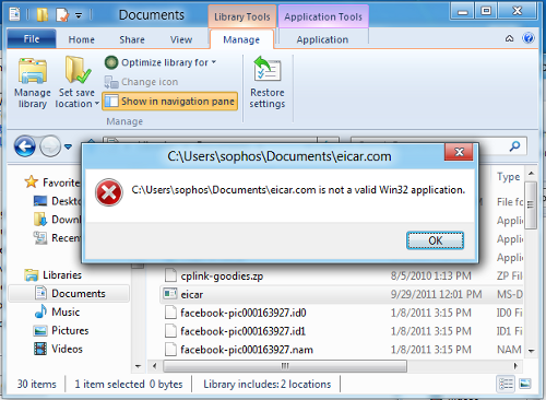Windows 8 accessing EICAR without detection