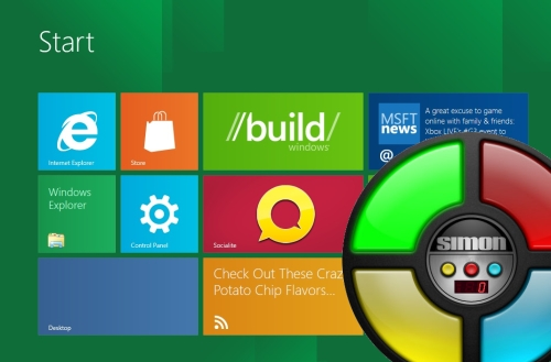 Windows 8 and Simon toy