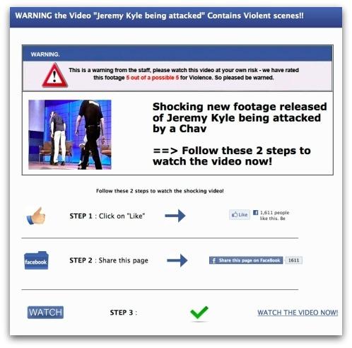 Jeremy Kyle Facebook scam