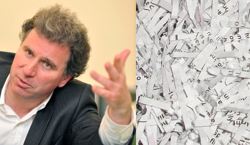 Oliver Letwin and shredded documents