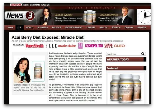 Acai Berry diet website