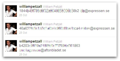 Tweets from William Petzäll's Twitter account