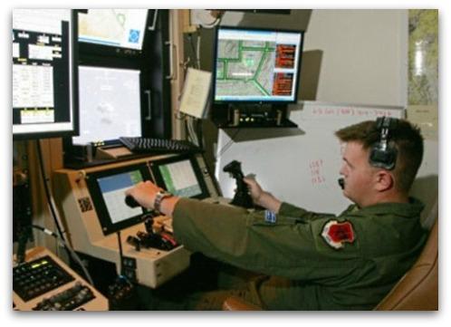 Predator drone control at Creech Air Force base in Nevada