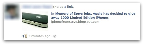 In Memory of Steve Jobs, Apple has decided to give away 1000 Limited Edition iPhones