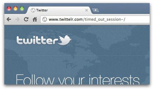 Close-up of Twitter phishing website
