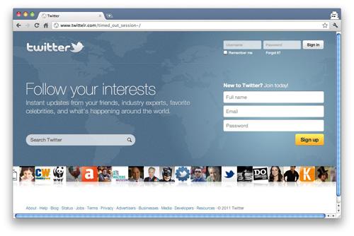 Twitter phishing website