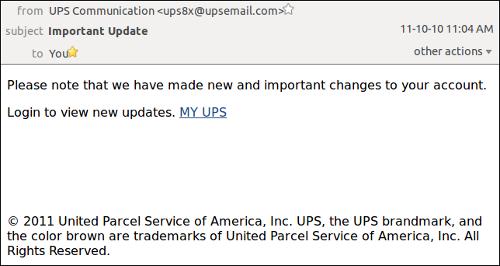 UPS phishing campaign