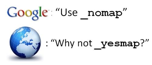 Google _nomap