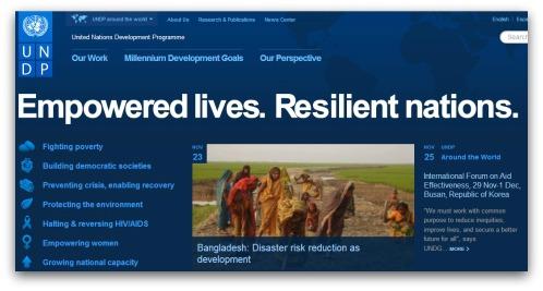 UN Development Programme website