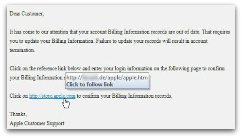 A closer look at phishing email
