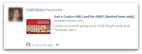 CostCo Facebook scam