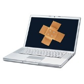 Laptop with bandaid 170