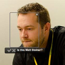 Google's Matt Steiner demonstrating Find My Face