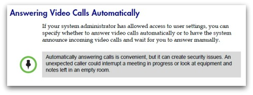 Answer video calls automatically?