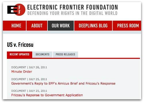 EFF.org  US v.fricosu screengrab