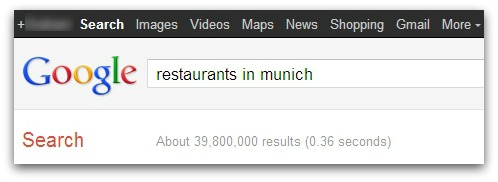 Googling restaurants