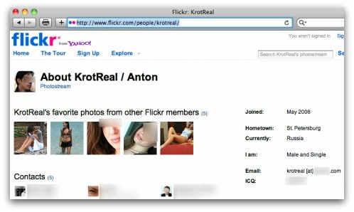 Krotreal's Flickr account