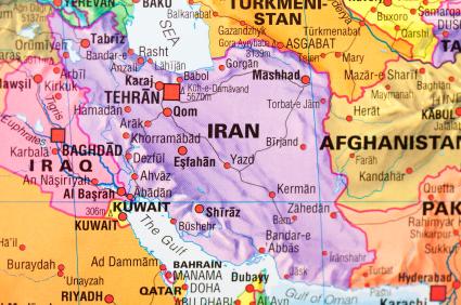 map of Iran from istockphoto.com