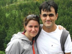 Saeed Malekpour and his wife, Dr. Fatemeh Eftekhari courtesy of iranian.com
