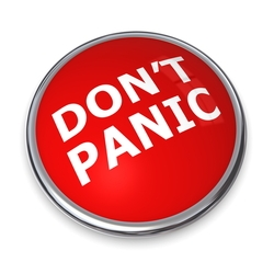Shutterstock image of Dont Panic