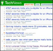 The old technews.techcrunch.com website