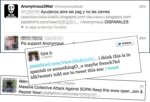 DDoS tweets