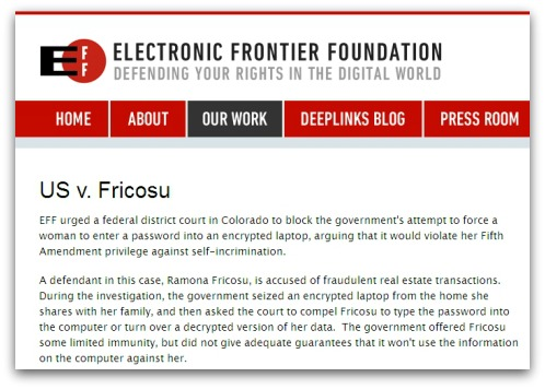 EFF webpage