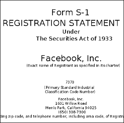 Facebook's S1 filing