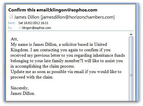 Spam sent to Klingon email address