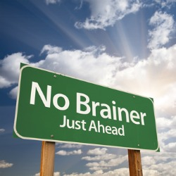 no-brainer sign
