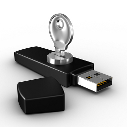 USB stick with keys courtesy of Shutterstock
