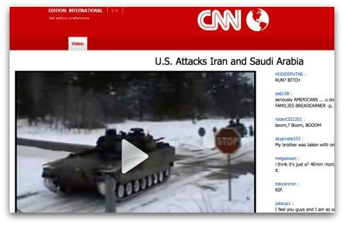 Fake CNN webpage