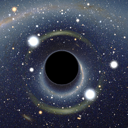 Creative Commons image of a Black hole courtesy of WikiMedia Commons