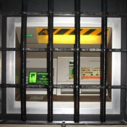 ATM machine behind bars