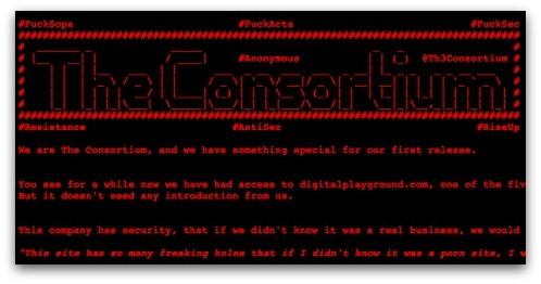 Message from Digital Playground's hackers