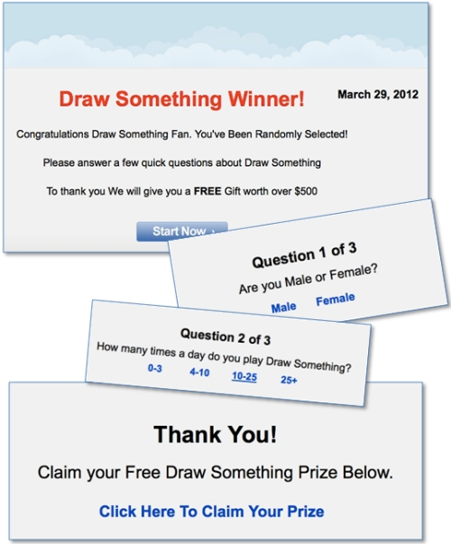 Draw Something scam survey