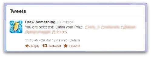 Scam tweet