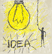 Idea - light bulb drawing