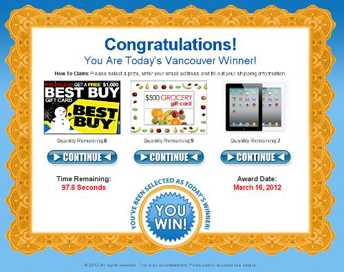 iPad giveaway scam