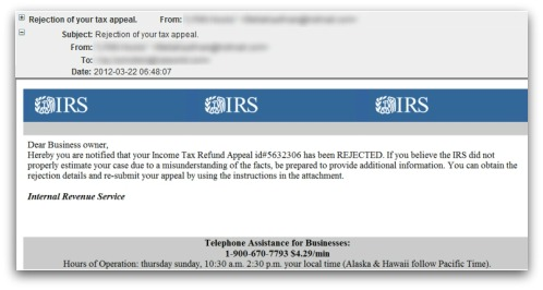 IRS spam. Click for larger version