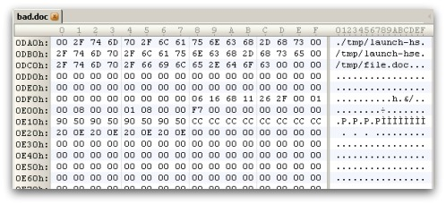 Mac malware hex dump