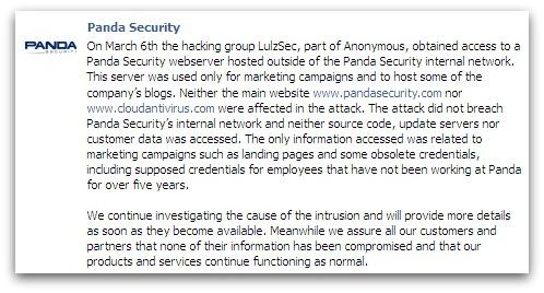 Panda statement