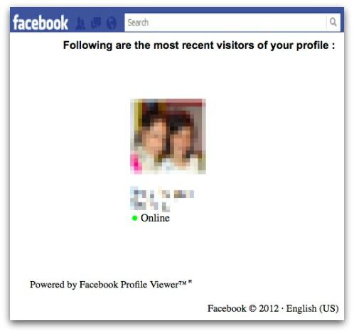 Facebook Profile Viewer rogue application