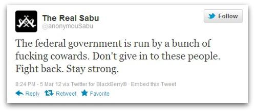 Tweet from Sabu