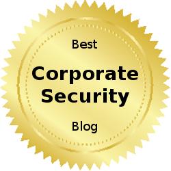 Best corporate security blog award